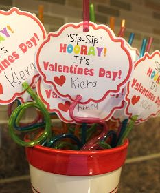 "Kinzie's Kreations: Valentines ""Sip-Sip"" Hooray! It's Valentines Day! Free… Kinzie's Kreations: Valentines ""Sip-Sip"" Hooray! It's Valentines Day! Free printable for this fun valentine. Kinder Valentines, Homemade Valentines, Valentine Day Love, Valentines Day Party, Valentine Day Crafts, Valentine Ideas, Valentine Activities, Printable Valentine, Valentine Gifts For Kids"