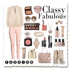 """Casual Fashion"" by pr267 ❤ liked on Polyvore featuring Sergio Rossi, Miu Miu, Gucci, Lancôme, Burberry, Blue Nile, Anne Klein, Bare Escentuals, Bobbi Brown Cosmetics and Chloé"