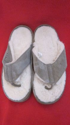 ff465d615ee5a L.L. BEAN BEIGE SUEDE WICKED GOOD FLIP FLOP SLIPPERS WOMEN S SZ 8 MEDIUM   fashion  clothing  shoes  accessories  womensshoes  slippers (ebay link)