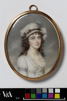 Portrait of an unknown woman        Object:        Miniature      Place of origin:        India (possibly, painted)      England, Great Britain (possibly, painted)      Date:        1795 (painted)      Artist/Maker:        John Smart, born 1742 - died 1811 (artist)      Materials and Techniques:        Watercolour on ivory      Museum number:        234-1885      Gallery location:        In Storage