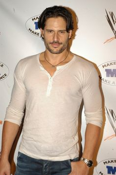 True Blood hottie Joe Manganiello attended the WWE Summer Slam Kickoff Party at the Tropicana Club in Hollywood. As if we needed another reason to tune into True Blood, Joe Manganiello adds even more heat to the steamy show as werewolf Alcide.