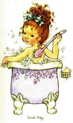 Taking a bath Sarah Key, Holly Hobbie, Colouring Pages, Adult Coloring Pages, Coloring Books, Australian Artists, Cute Images, Illustrations, Digital Stamps