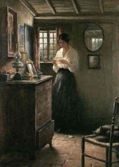 ;The Letter; - William Kay Blacklock, 1917