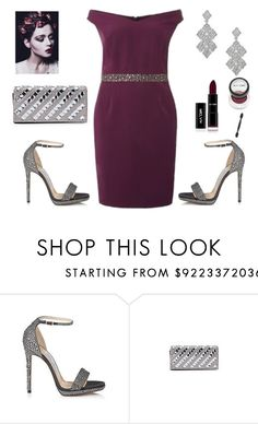 """""""Bardot Bodycon Dress"""" by dana-debanks ❤ liked on Polyvore featuring Dorothy Perkins and Jimmy Choo"""