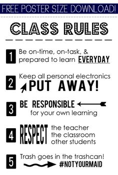 Source : http://twolivecolorfully.com/2013/08/26/thems-the-classroom-rules/