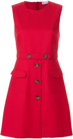 RED Valentino button embellished shift dress