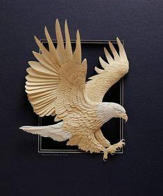 Calvin Nicholls, Canadian Paper Sculpture Artist Is A Master Of Paper Art Art Sculpture En Bois, Papercut Art, Paper Birds, Paper Animals, Animal Sculptures, Paper Sculptures, Wood Carving Art, Paper Artwork, Carving Designs