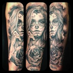 Day of the dead girl tattoo