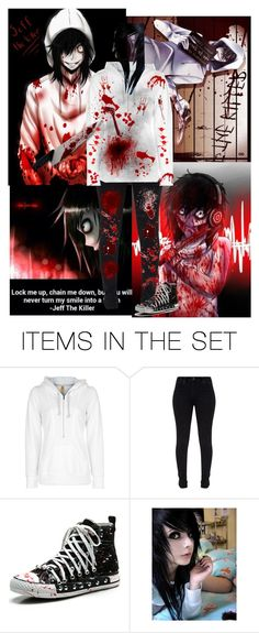 """Jeff the killer"" by lovelyriver ❤ liked on Polyvore featuring art"