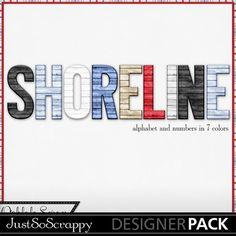 Shoreline Digital Scrapbooking Kit,travel,vacation,beach,ocean,sea,alphabets,monograms,alphas,elements,embellishments