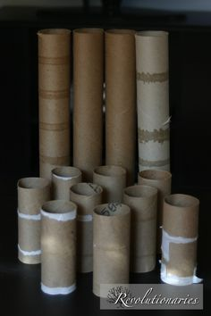 Revolutionaries: A Project for Fall | Creative Ideas Using Toilet Paper & Paper Towel Rolls