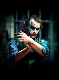 Heath Ledger's Joker - The Dark Knight Le Joker Batman, Der Joker, Joker Heath, Joker Art, Joker And Harley Quinn, Gotham Batman, Batman Art, Batman Robin, Batman Joker Wallpaper