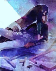 Tokyo Ghoul :Re - Touka Kirishima - Ken Kaneki - Touken Tokyo Ghoul Uta, Tokyo Ghoul Manga, Tokyo Ghoul Fan Art, Kaneki And Touka Kiss, Touka Kaneki, Anime Demon, Anime Manga, Anime Art, Koi