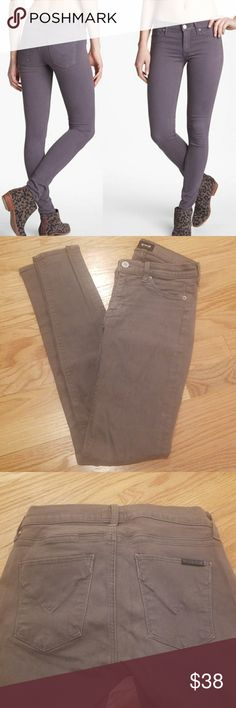 Hudson Colette Skinny Midrise in Steel Grry Good used condition, some small pulling (see last picture) Hudson Jeans Jeans Skinny