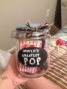 """DIY Father's Day gift for Grandpa! Filled with all sorts of """"pop"""" candy :) 2014"""