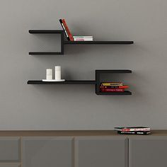 "Fork Double Wall Shelf Black h:7"" w:29.8"" d:7.9"" DECORTIE http://www.amazon.com/dp/B00KM733F0/ref=cm_sw_r_pi_dp_xgj1wb03TKCSM"