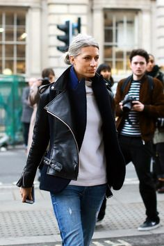 London Fashion Week Street Style - Sarah Harris in Paige Denim