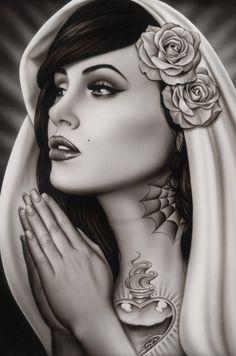 Black Market Art/Tattoo - Canvas Painting