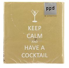 Paperproducts Design 20-Pack Keep Calm Cocktail Paper Cocktail Napkins Paperproducts Design