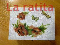 Caja flores y mariposas
