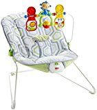 #8: Fisher-Price Baby's Bouncer Geo Meadow  Fisher-Price Baby's Bouncer Geo Meadow by Fisher-Price  71% Sales Rank in Baby: 214 (was 368 yesterday) (482)  Buy new: $20.49 18 used & new from $16.80  (Visit the Movers & Shakers in Baby list for authoritative information on this product's current rank.)
