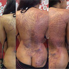 Tiger back tattoo WIP