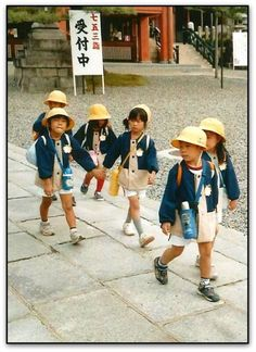 School children - brings back sweet memories of my daughters when we lived in Japan!