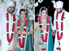 Bollywood weddings are always the talk of the town, and Dia Mirza's was no exception. The gorgeous actress tied the knot with long time beau, filmmaker and businessman Sahil Sangha over the weekend and we've laid our hands on some exclusive wedding pictures. The who's who of Bollywood attended the wedding making the event memorable for the bride and groom. Take a look at the lovely couple and their starry wedding celebration. Image courtesy: Twitter / Instagram / IANS   Don't Miss: ...