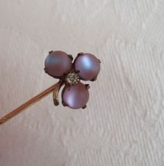 Victorian Saphiret Paste Lucky 3 Leaf Clover Stick Stock Pin   eBay