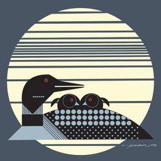 Loonrise by Charley Harper #gelaskins