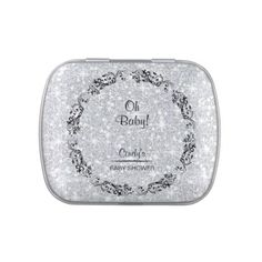 #glitter - #Personalized Baby Shower Favors - Tin Container Jelly Belly Candy Tins
