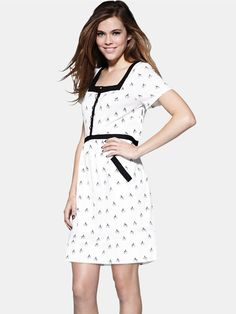 Love Label Contrast Panel Jersey Dress