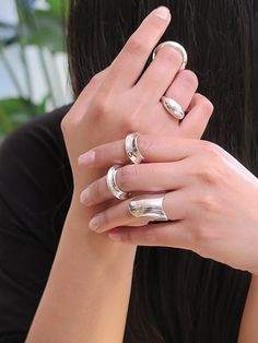 Ex Ovo silver rings www.exovo.com Silver Rings, Wedding Rings, Engagement Rings, Jewelry, Fashion, Enagement Rings, Moda, Jewlery, Bijoux