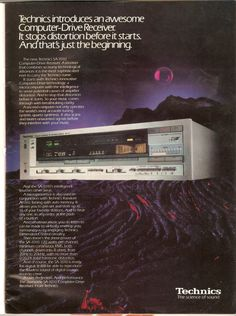 Technics Hifi, 80s Ads, Hifi Audio, Audio Equipment, Vintage Ads, Vinyl Records, Fun Facts, Advertising, Audiophile