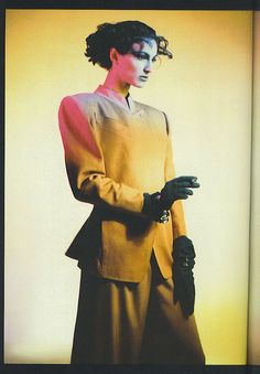Claude Montana, 1980s fashion - stunning jacket, perfectly tailored with asymmetrical detail
