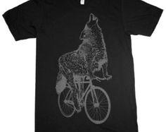 Wolf shirt | Etsy