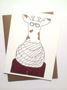 Funny Warm Wishes for the New Year Giraffe