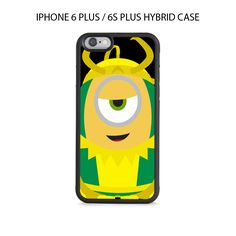 Despicable Me Minion LOKI iPhone 6/6s PLUS HYBRID Case Cover
