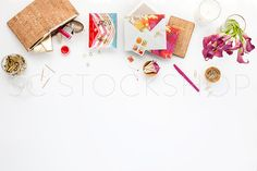Pink and cork styled desktop. Styled Stock Photography for small business owners. Images for websites, custom website designs and Etsy shops. Styled stock image by Shay Cochrane. Keep an eye on the SC Stockshop on Cyber Monday, our biggest and one of our only sales of the year!