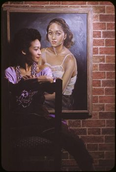 """The artist, Ladybird Cleveland, photographed by Carl Van Vechten on September 21, 1954 with her painting, """"Self Portrait."""" She is also the mother of legendary fashion model Pat Cleveland. Photo:Beinecke Rare Book and Manuscript Library"""