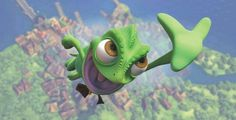 Pascal - Tangled Ever After.... @Caitlin Painter , he's going all superhero on us again! =D
