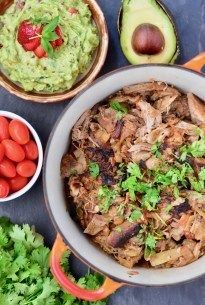 Dear pulled pork, I LOVE YOU. Specifically these Slow Cooker Carnitas. Dying of happiness and flavor explosions on my tastebuds, it's fiiine. Slow Cooked Meals, Healthy Slow Cooker, Healthy Crockpot Recipes, Slow Cooker Recipes, Paleo Recipes, Real Food Recipes, Crockpot Meals, Slow Cooking, Healthy Meals