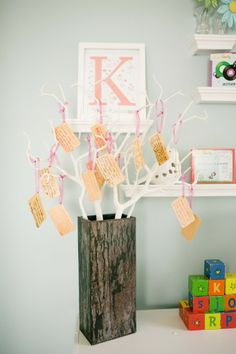 Wishes for Baby Tree displayed in the nursery - so sweet!