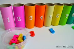 Thrive 360 Living: Five Easy and Fun Toilet Paper Roll Kid Activities Toilet Paper Roll Crafts, Paper Crafts For Kids, Diy Paper, Nursery Activities, Toddler Activities, Activities For Kids, Learning Activities, Toddler Art, Toddler Crafts