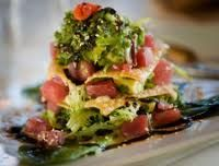 Fresh Ahi tuna seared, with stir fried vegies with a light wasabe sauce served on coconut rice. What about Seared Elk Chop or a Rack of Appetizer Recipes, Appetizers, Seared Ahi, Coconut Rice, Stir Fry, Tuna, Fries, Seafood, Mexican