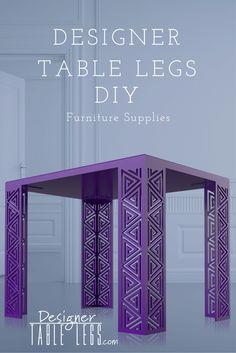 Pharaoh Spiral Purple Table Legs - www.designertablelegs.com - DIY Furniture Supplies for Tables Desks - Interior Design Ikea Hacks