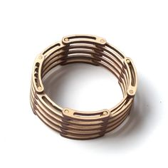 Links - unique flexible shrinkable laser cut wooden bracelet, natural style, eco friendly jewelry