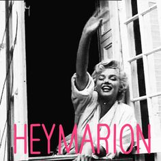"""Just wanted to give a wave """"hi""""'to my friend Marion who doesn't follow me, but basically does :) #heyheyhey"""