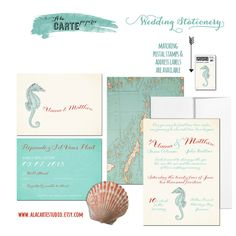 Nautical or Beach Destination Wedding Invitation by alacartestudio, $40.00