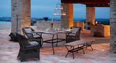 Tisch Montana, Sessel Garden Grove mit Bank Montana #loberon